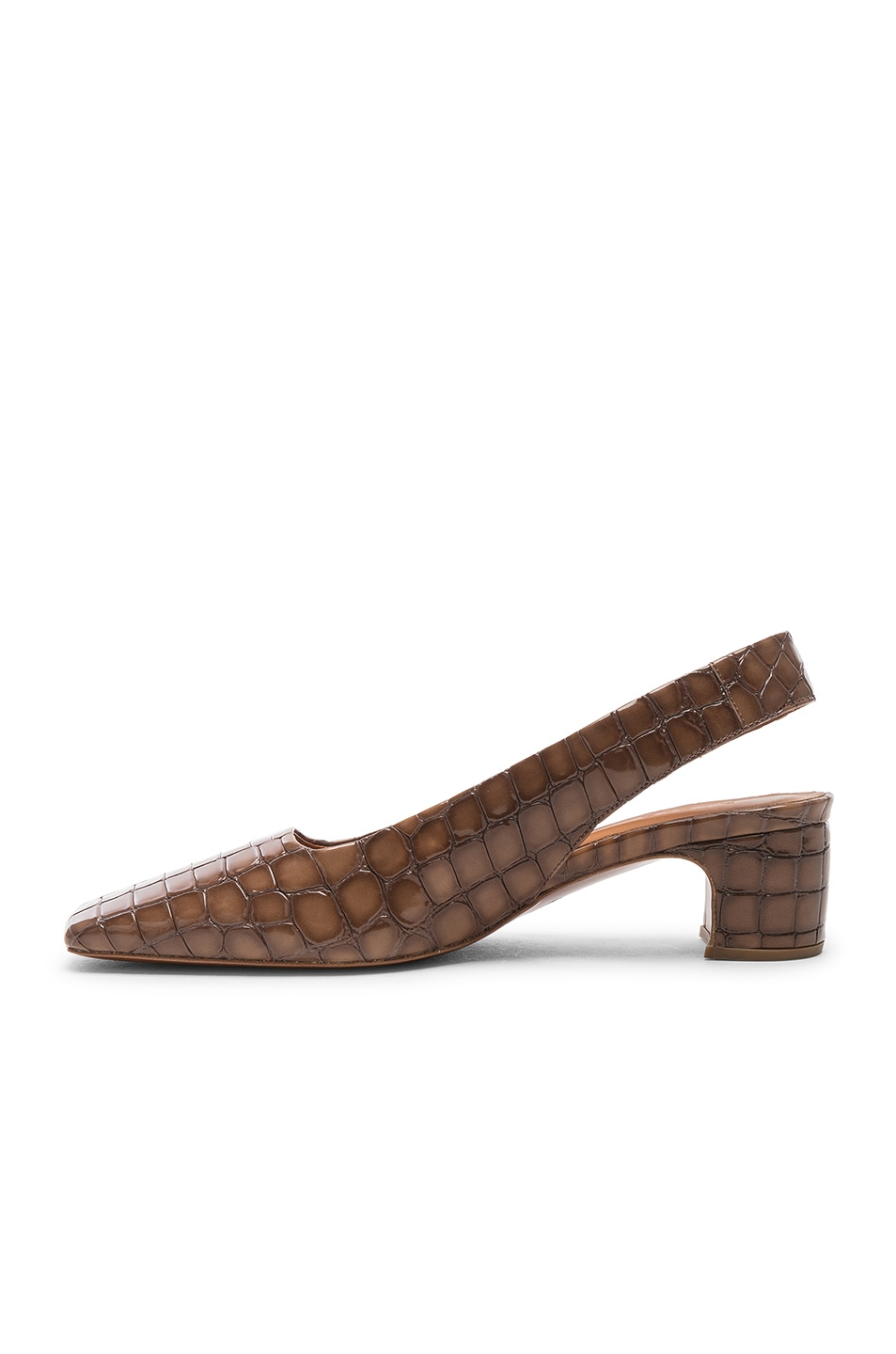 Image 5 of BY FAR Danielle in Brown Croc Embossed Patent