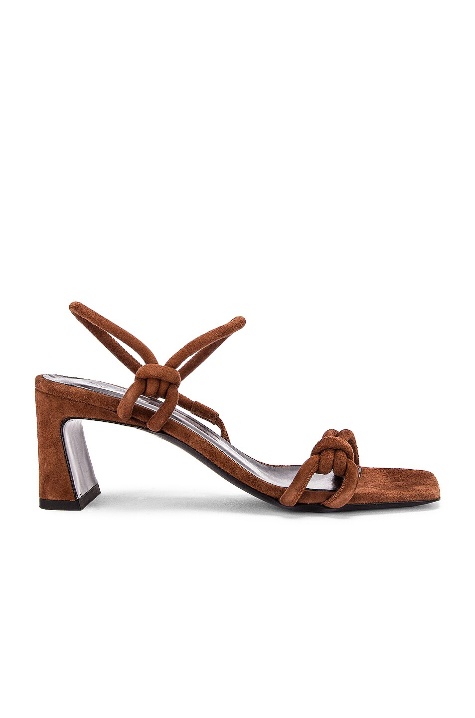 Image 1 of BY FAR Charlie Suede Leather Sandal in Brown