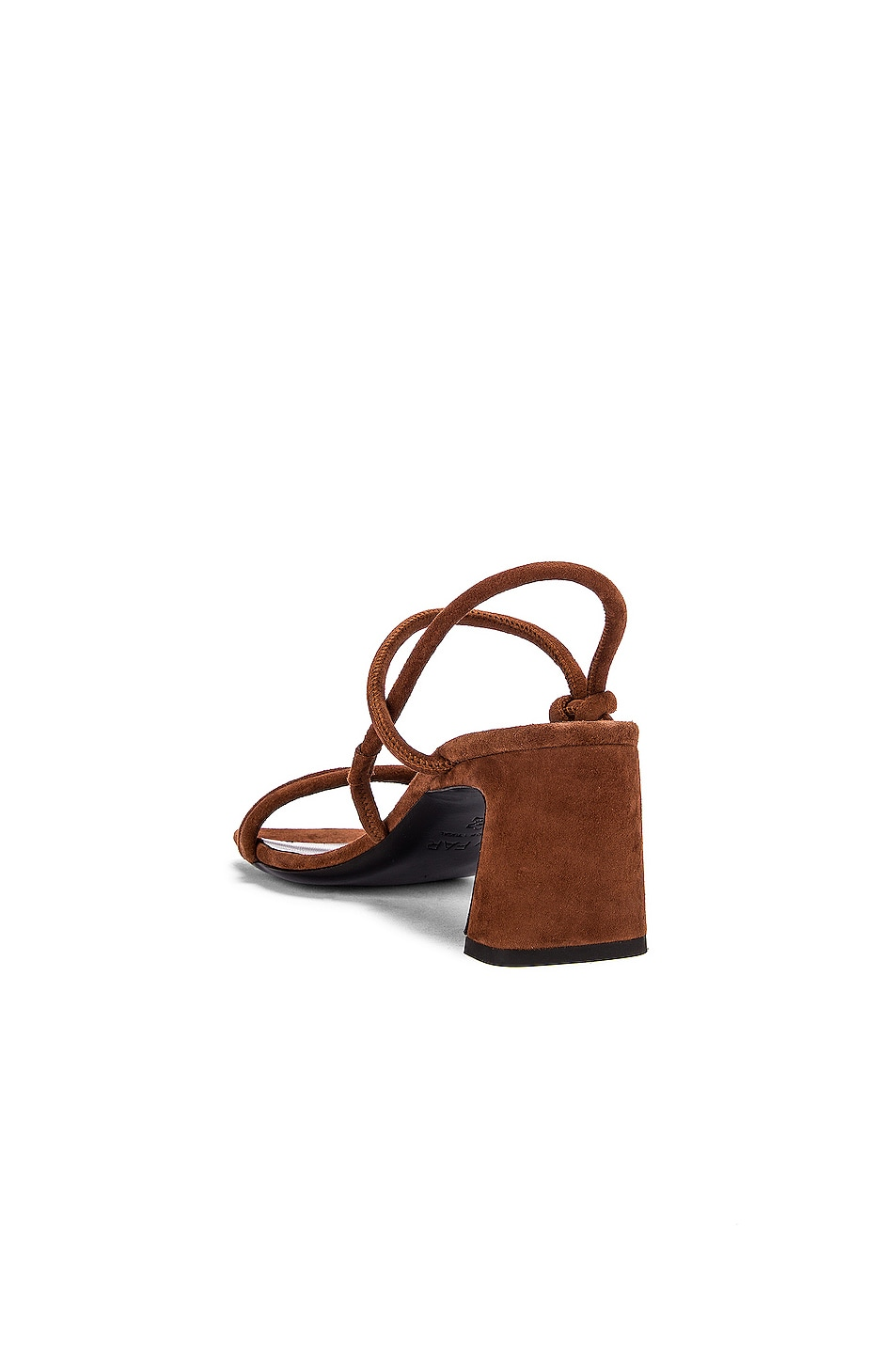 Image 3 of BY FAR Charlie Suede Leather Sandal in Brown