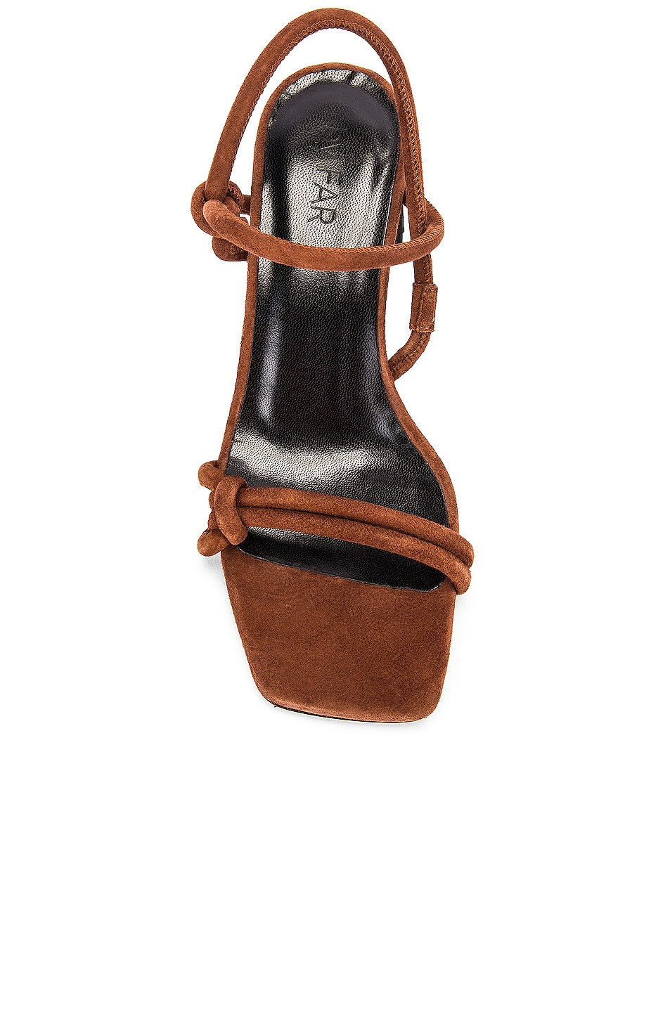 Image 4 of BY FAR Charlie Suede Leather Sandal in Brown