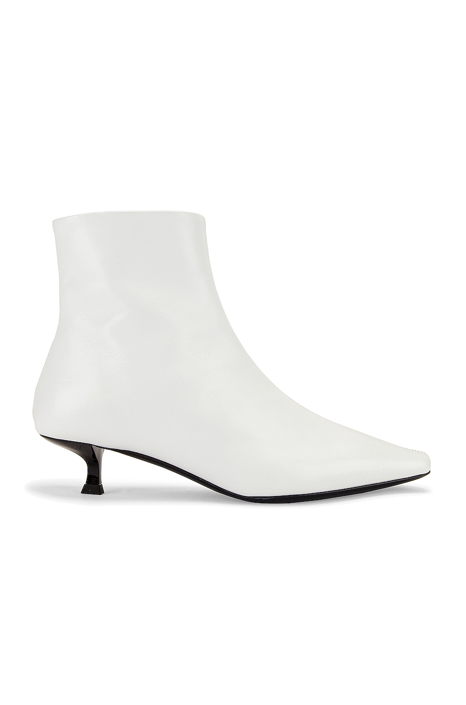 Image 1 of BY FAR Laura Leather Boot in White