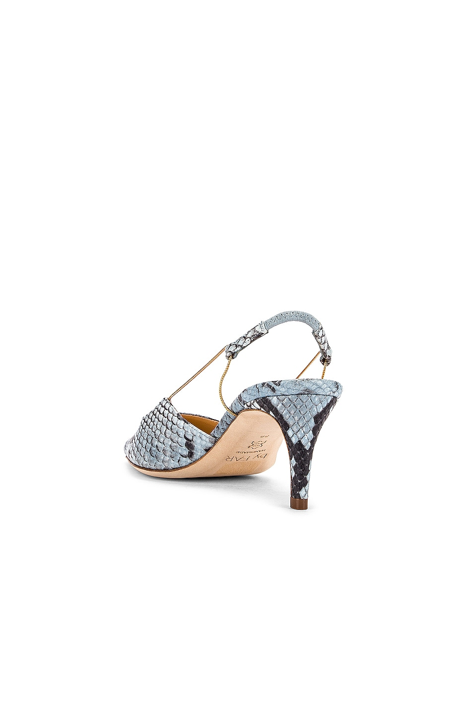 Image 3 of BY FAR Gabriella Snake Print Leather Pump in Light Blue
