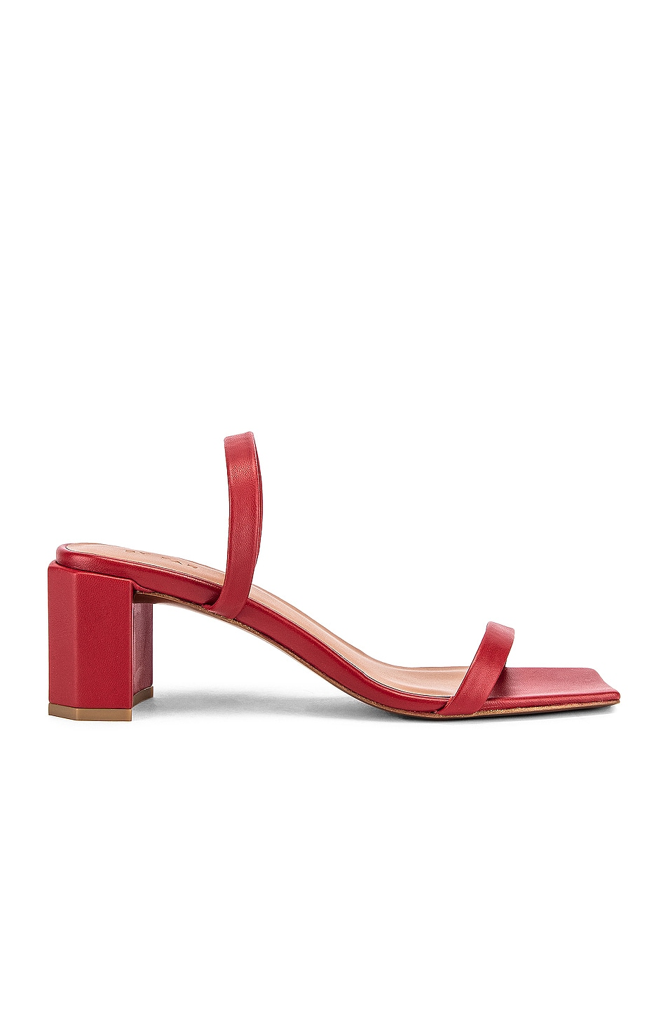 Image 1 of BY FAR Tanya Lather Sandal in Red