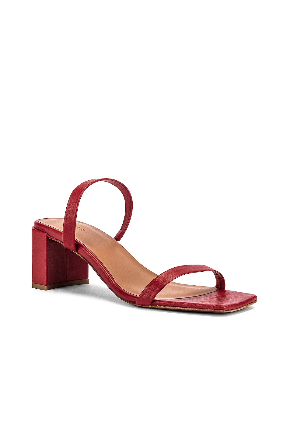 Image 2 of BY FAR Tanya Lather Sandal in Red