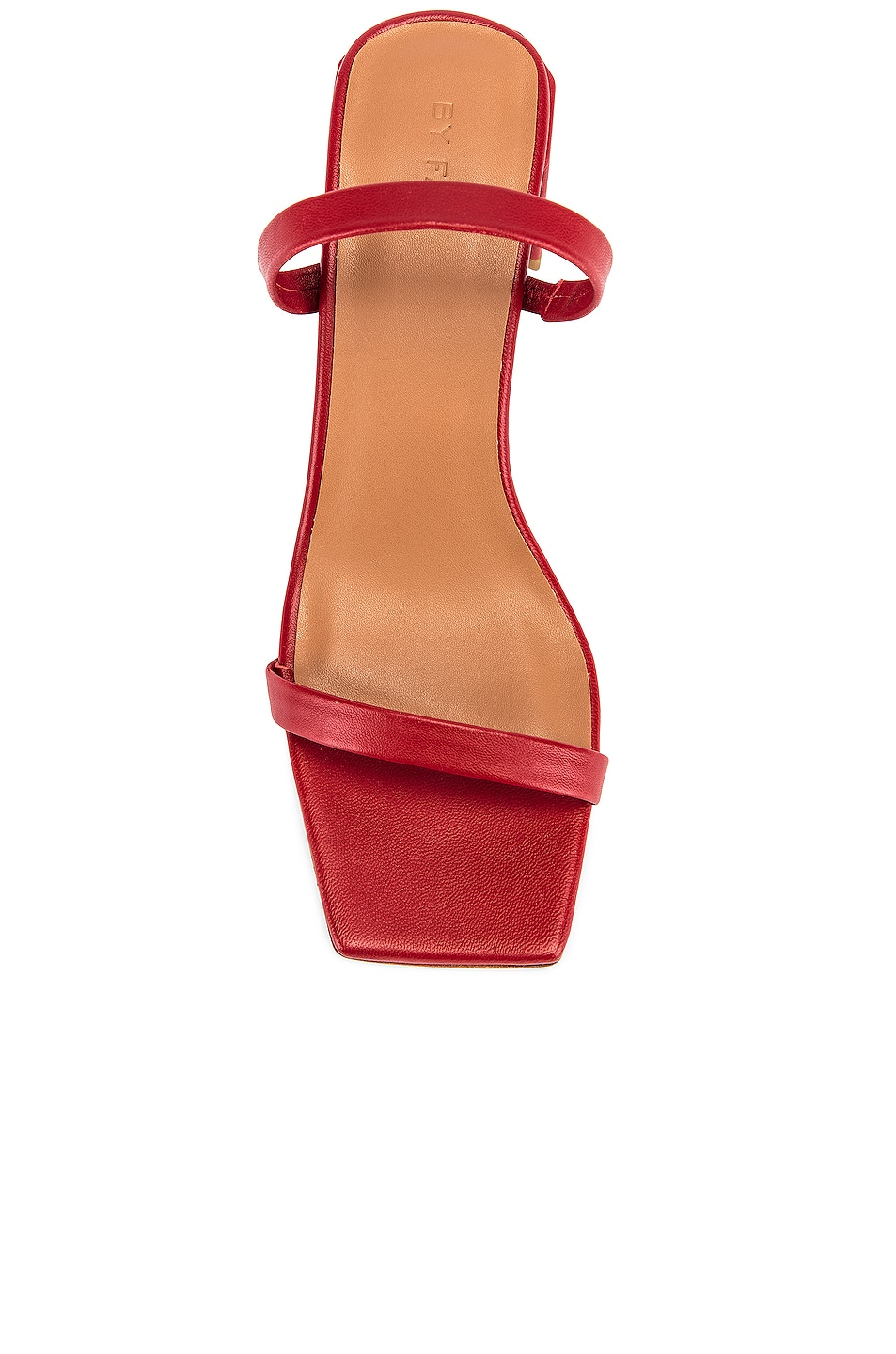 Image 4 of BY FAR Tanya Lather Sandal in Red