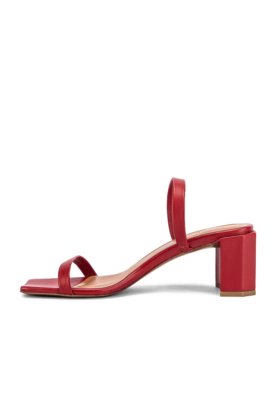 Image 5 of BY FAR Tanya Lather Sandal in Red