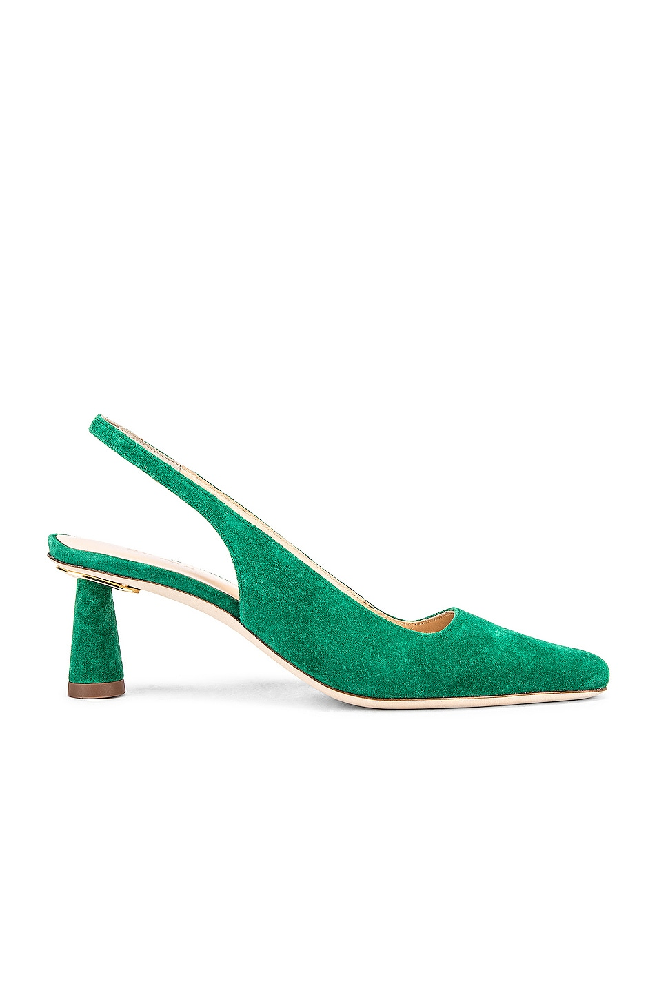 Image 1 of BY FAR Diana Suede Leather Pump in Green