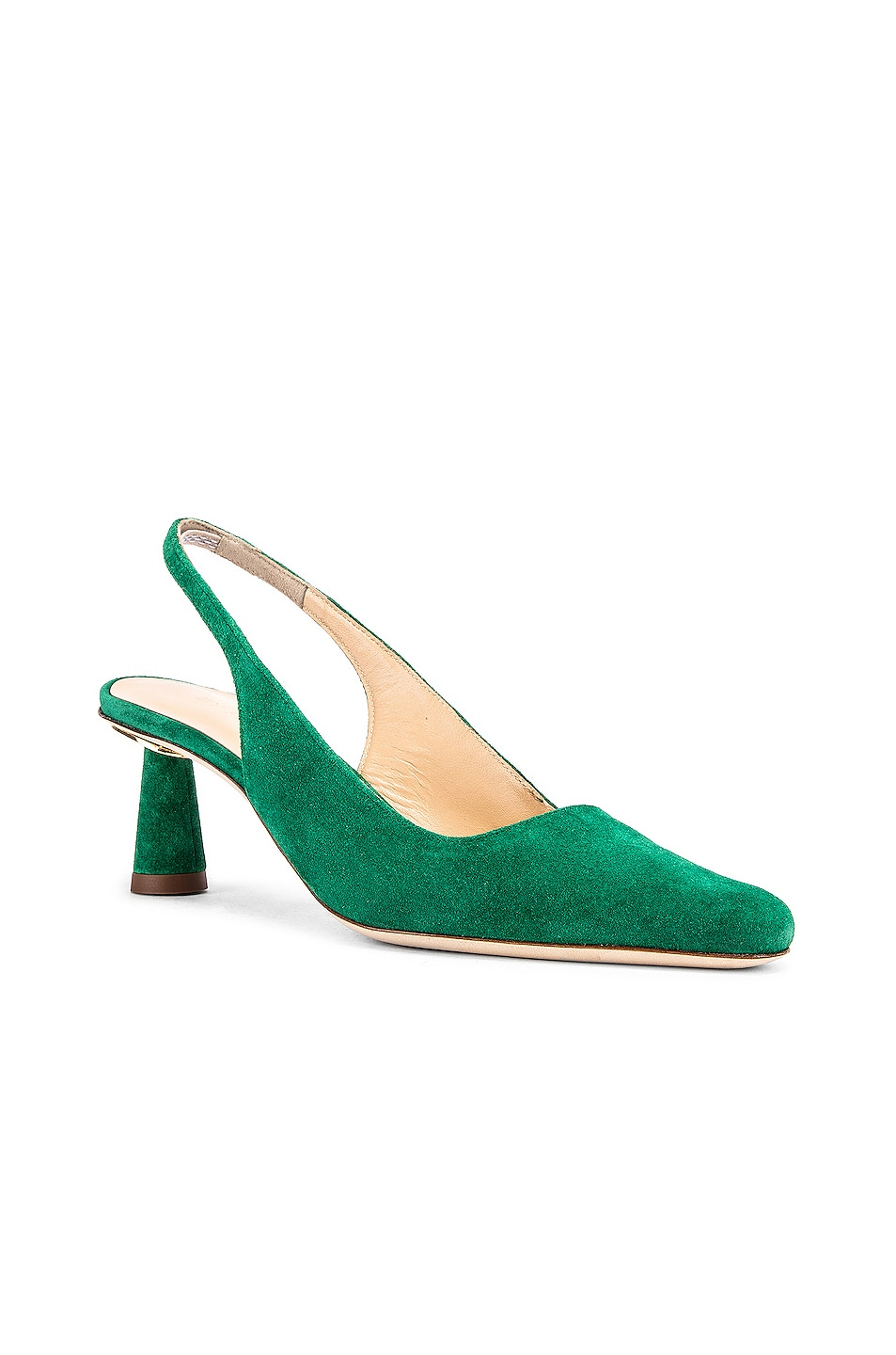 Image 2 of BY FAR Diana Suede Leather Pump in Green