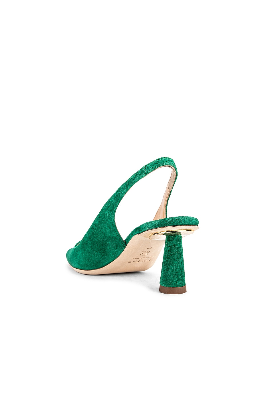 Image 3 of BY FAR Diana Suede Leather Pump in Green