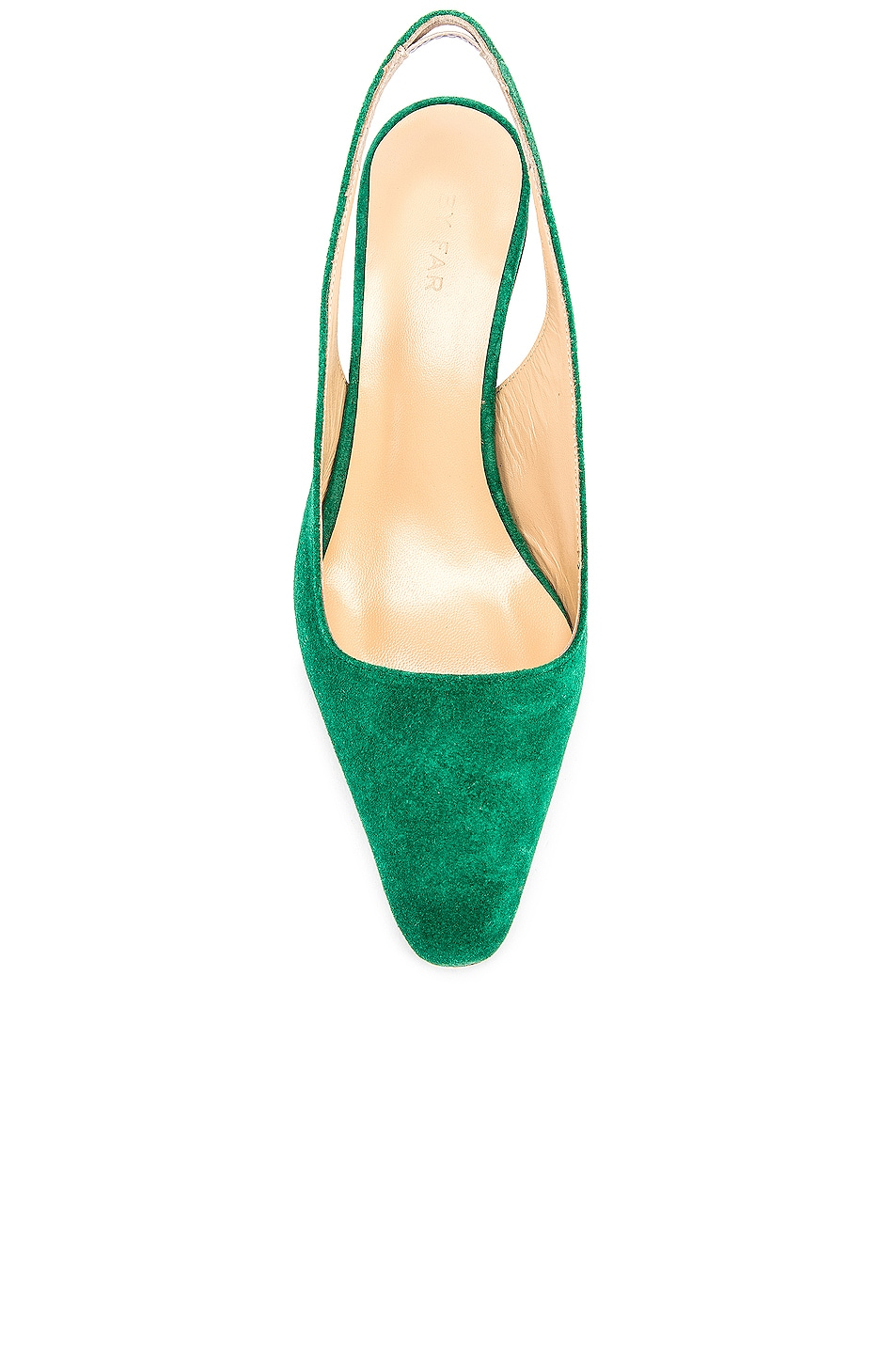 Image 4 of BY FAR Diana Suede Leather Pump in Green
