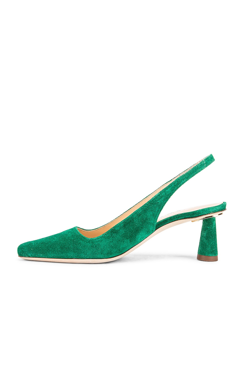 Image 5 of BY FAR Diana Suede Leather Pump in Green