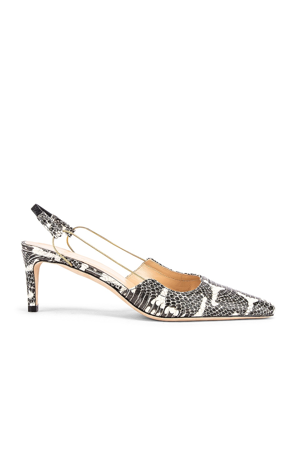 Image 1 of BY FAR Gabriella Snake Print Leather Pump in Graphic