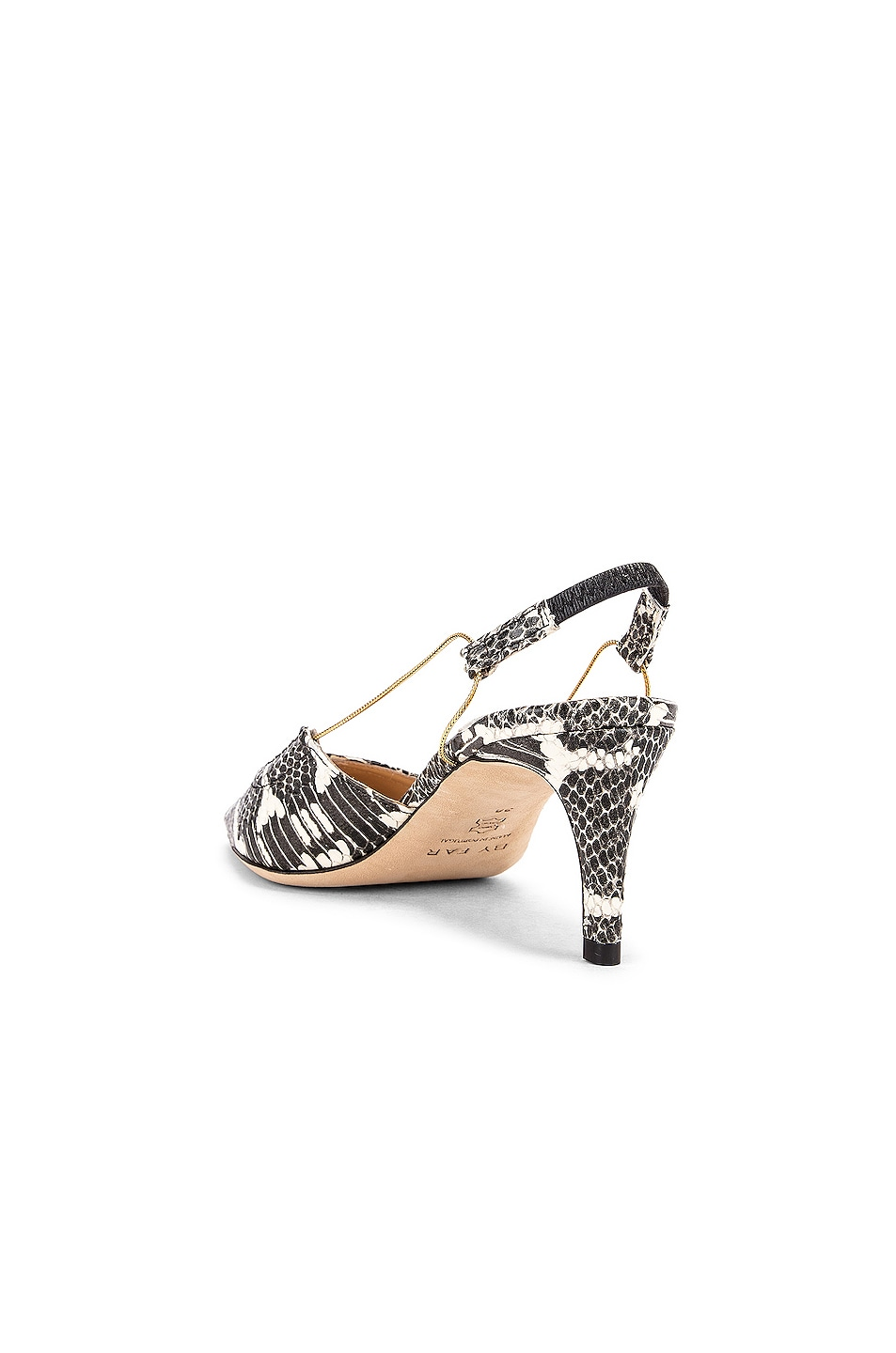 Image 3 of BY FAR Gabriella Snake Print Leather Pump in Graphic