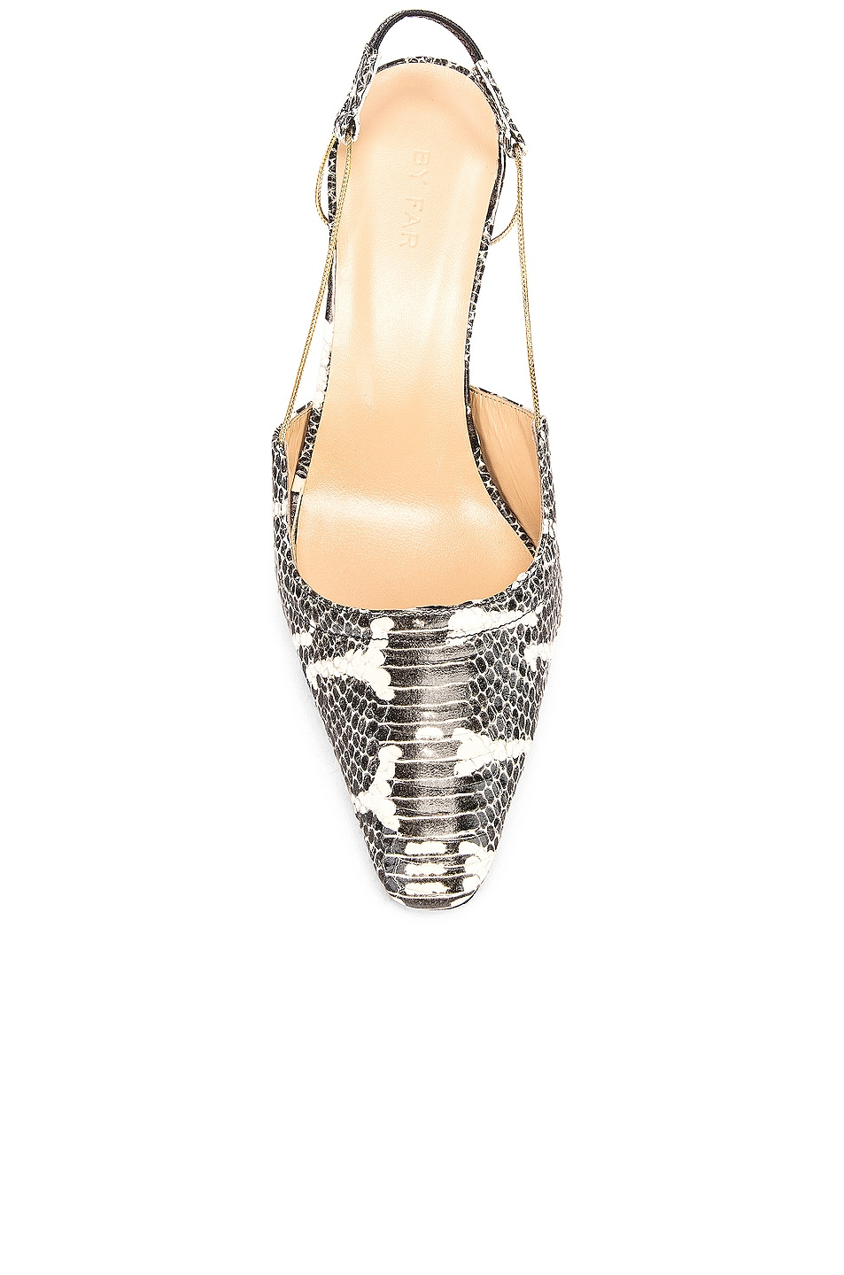 Image 4 of BY FAR Gabriella Snake Print Leather Pump in Graphic