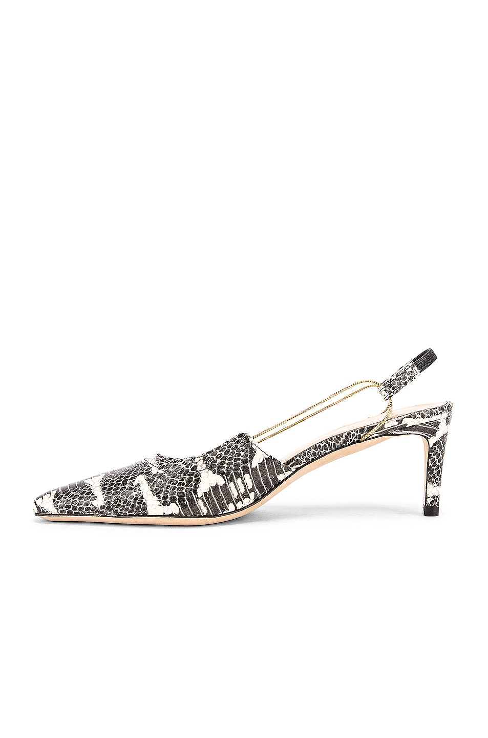 Image 5 of BY FAR Gabriella Snake Print Leather Pump in Graphic