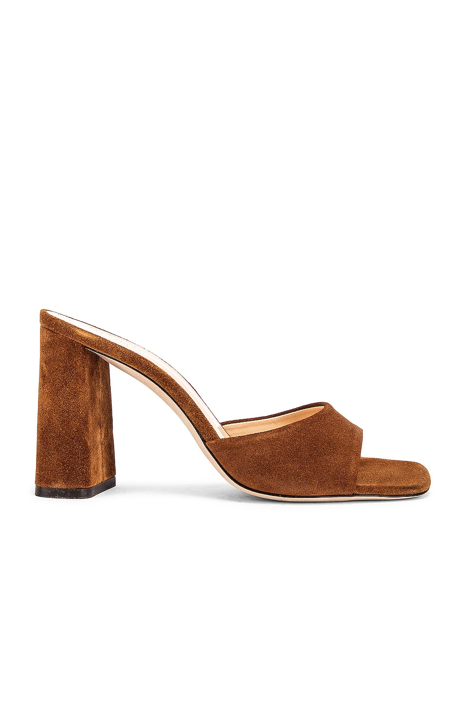 Image 1 of BY FAR Juju Suede Leather Sandal in Brown