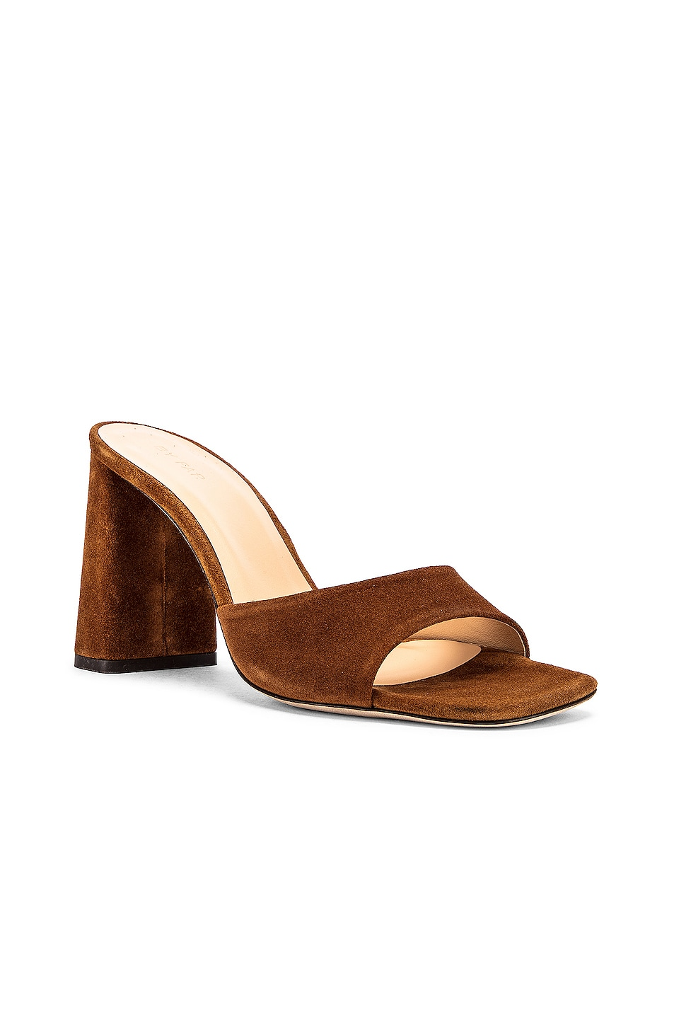 Image 2 of BY FAR Juju Suede Leather Sandal in Brown