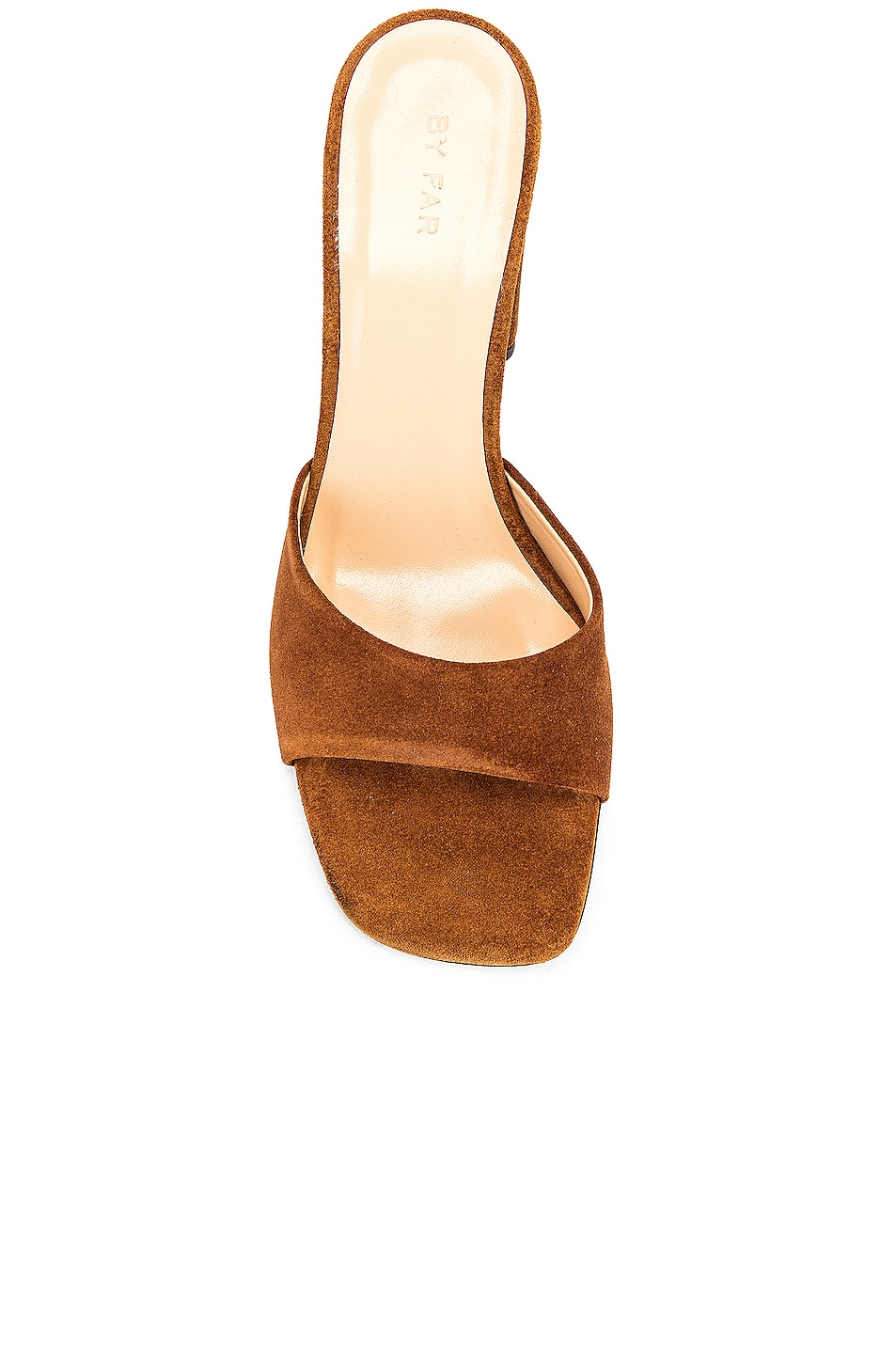 Image 4 of BY FAR Juju Suede Leather Sandal in Brown