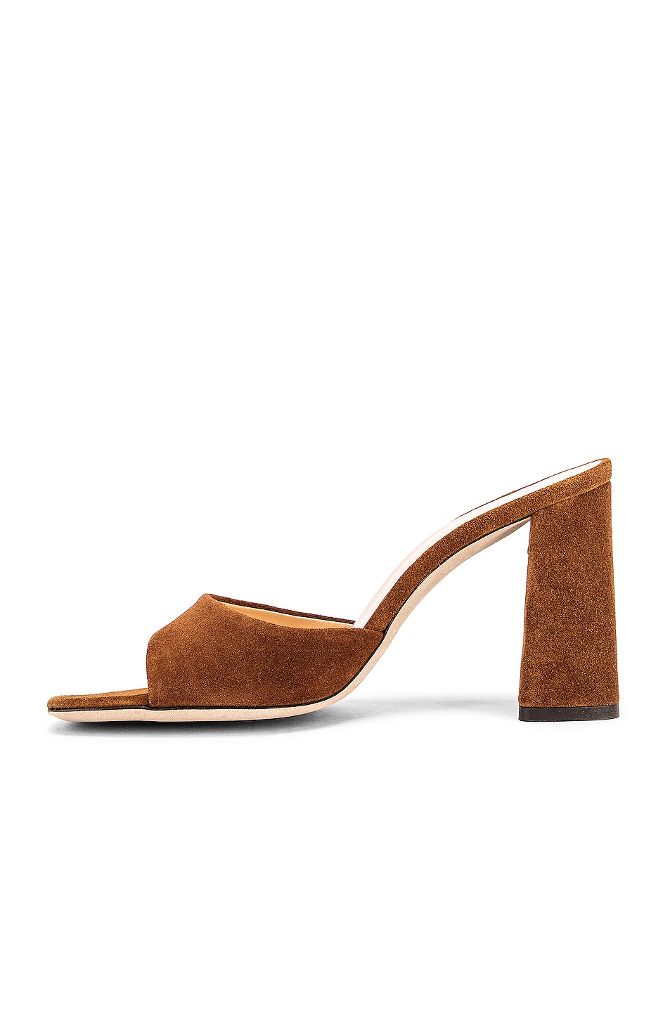 Image 5 of BY FAR Juju Suede Leather Sandal in Brown