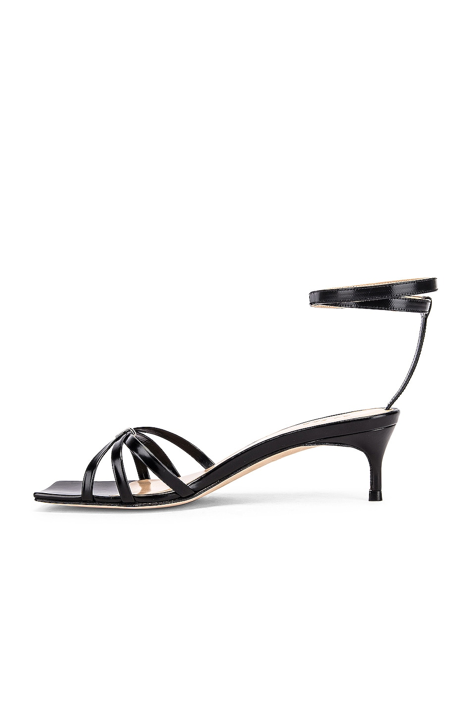 Image 5 of BY FAR Kaia Semi Patent Leather Sandal in Black