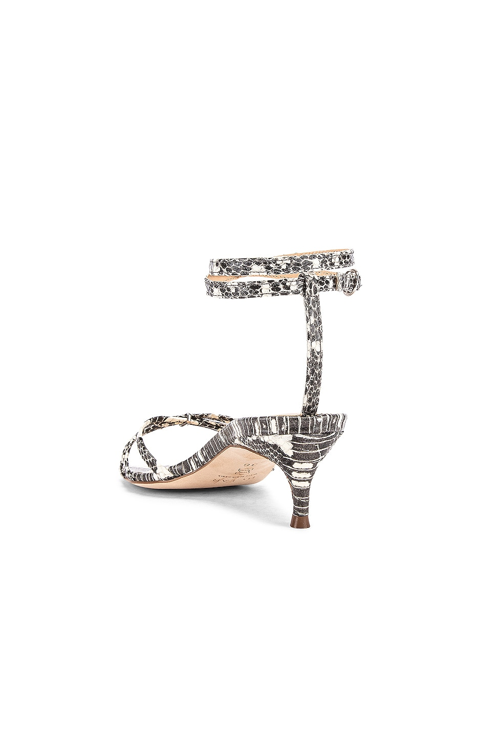 Image 3 of BY FAR Kaia Snake Print Leather Sandal in Graphic