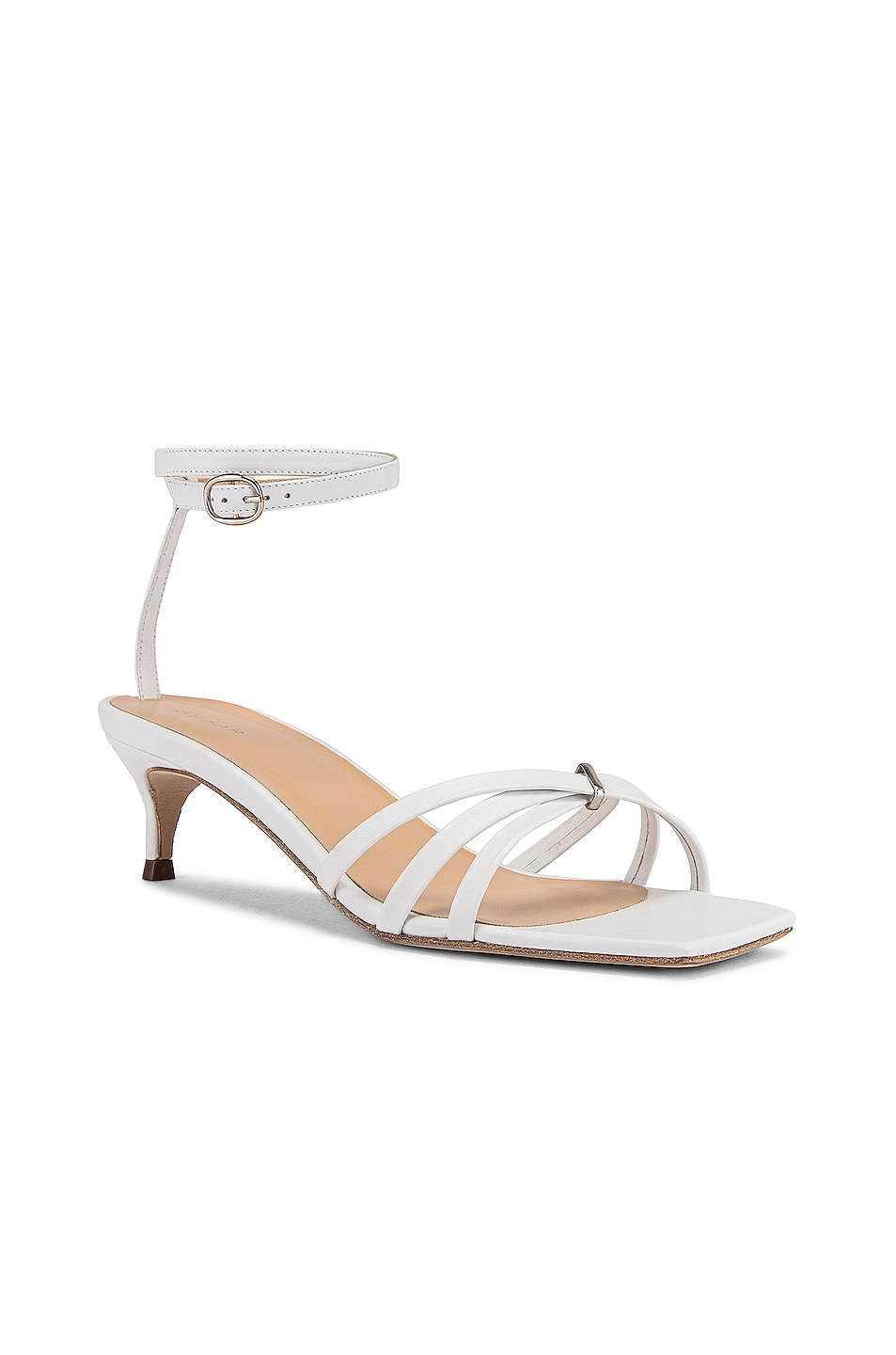 Image 2 of BY FAR Kaia Leather Sandal in White