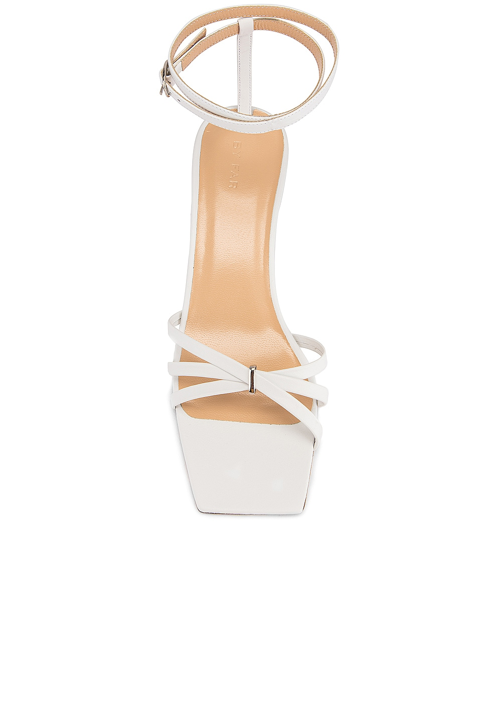 Image 4 of BY FAR Kaia Leather Sandal in White