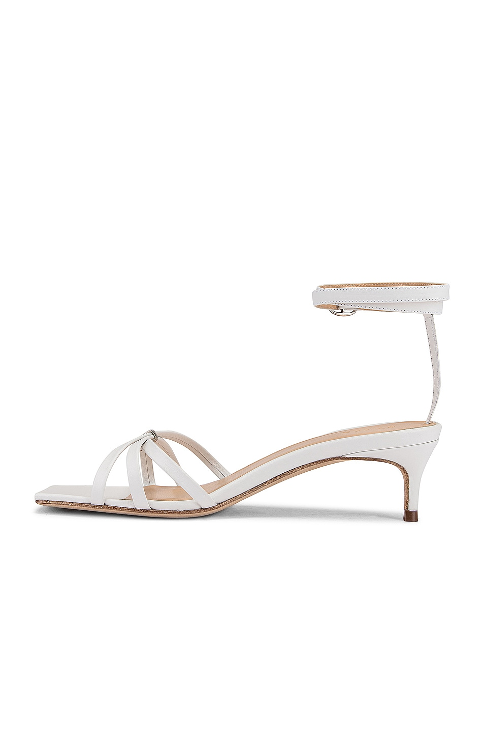Image 5 of BY FAR Kaia Leather Sandal in White