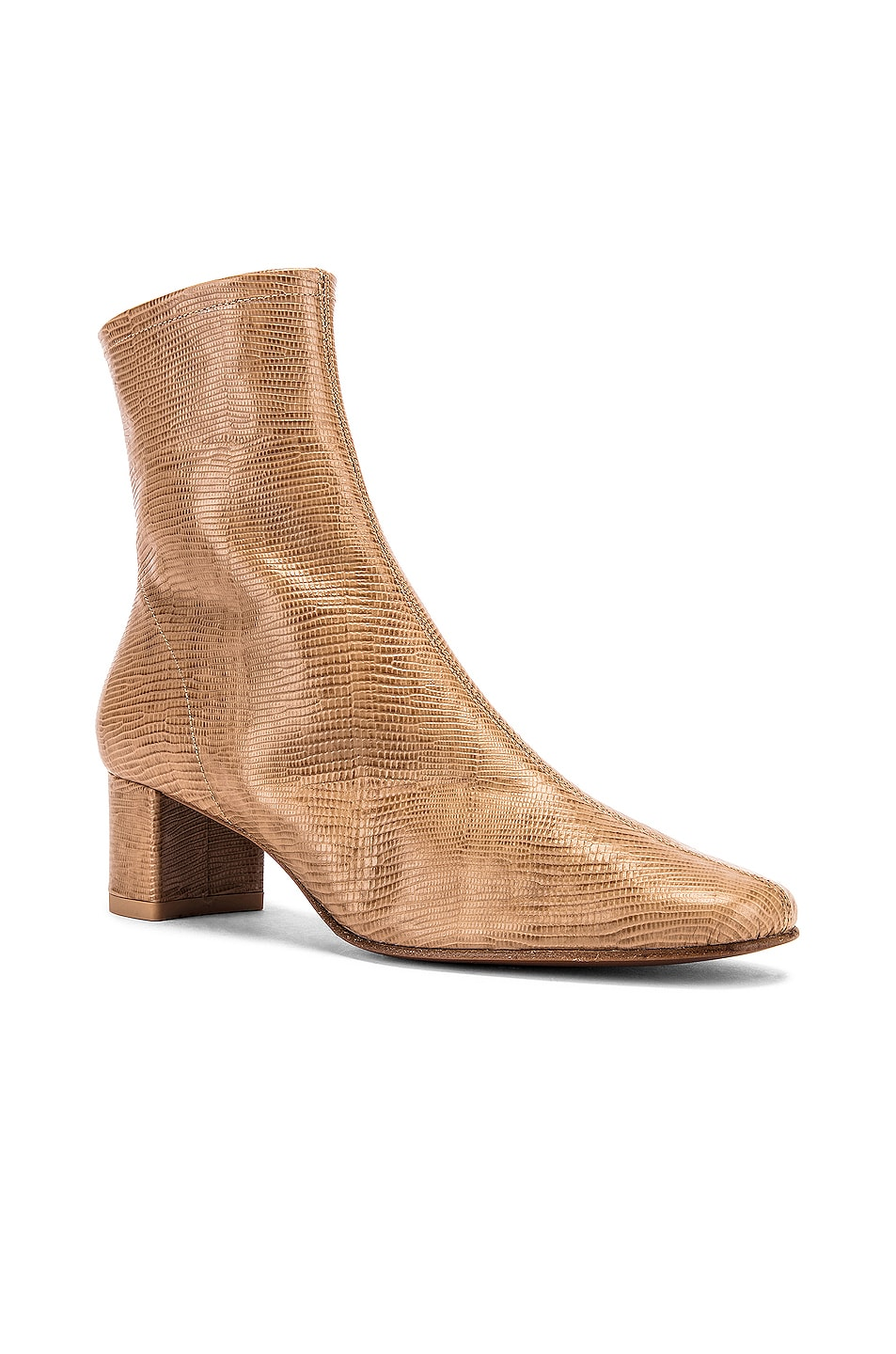 Image 2 of BY FAR Sofia Lizard Embossed Boot in Tan