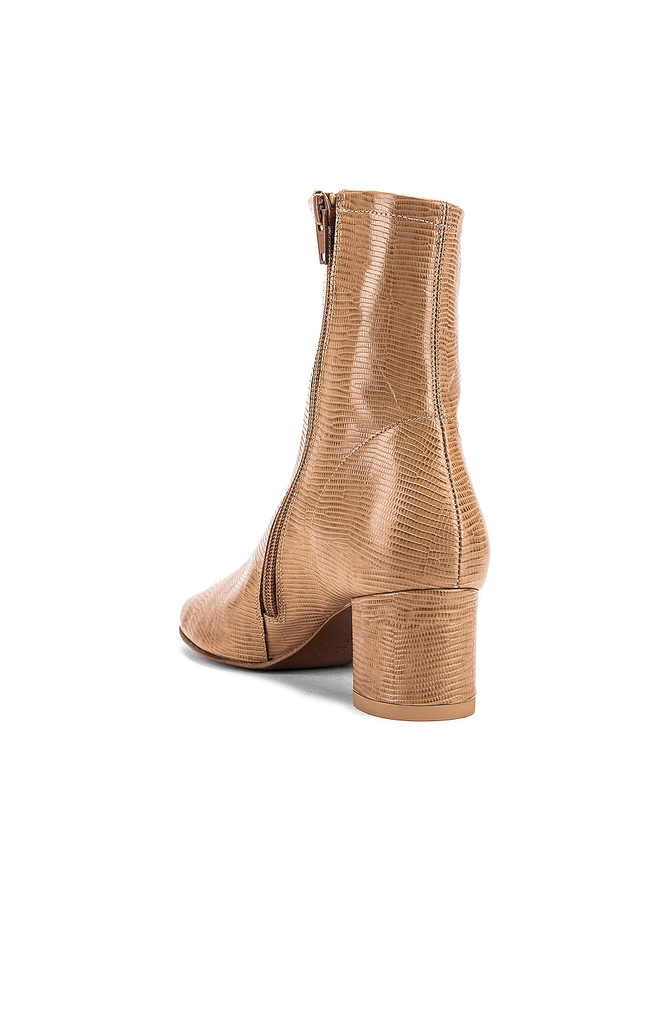 Image 3 of BY FAR Sofia Lizard Embossed Boot in Tan