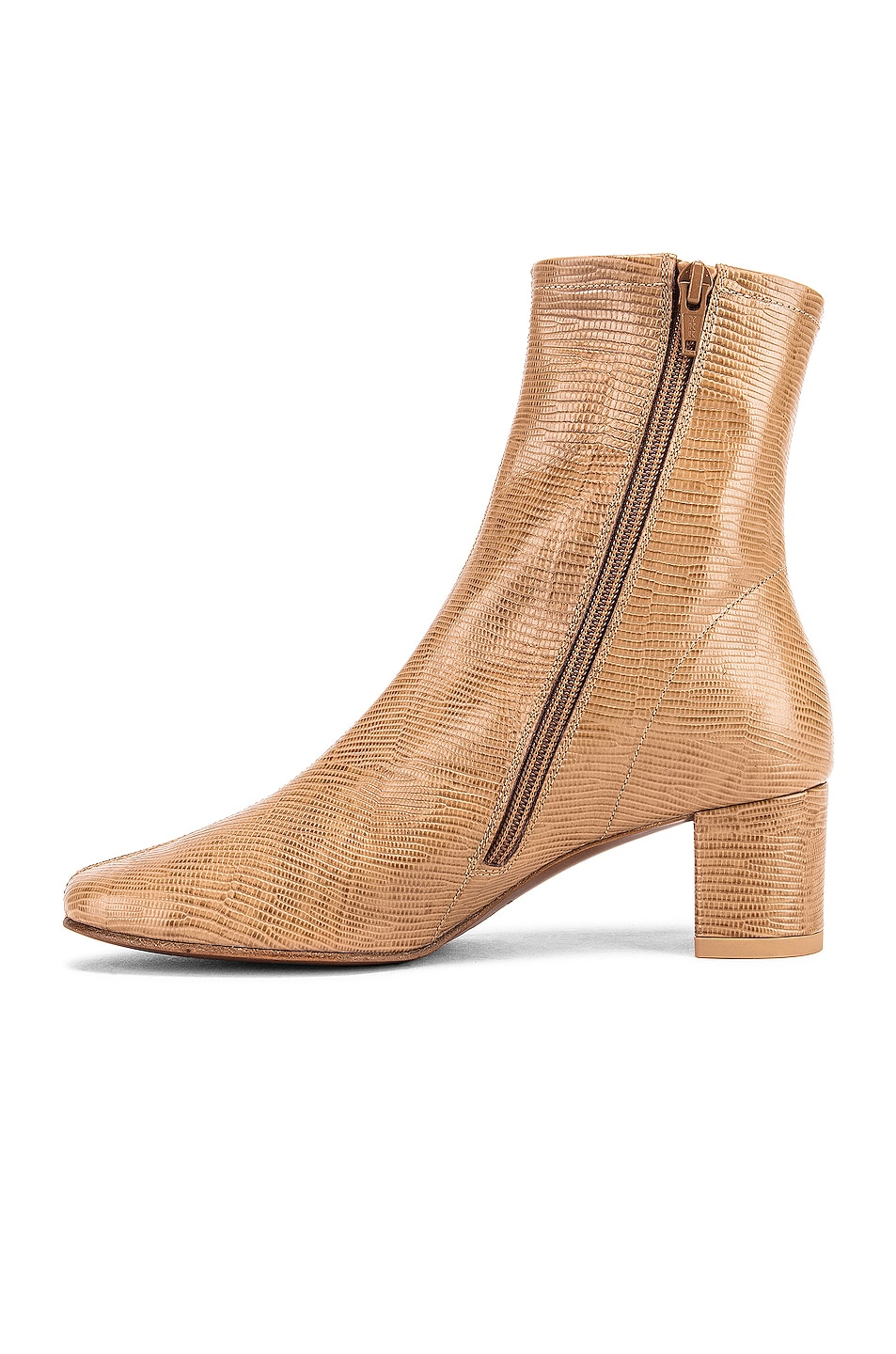 Image 5 of BY FAR Sofia Lizard Embossed Boot in Tan