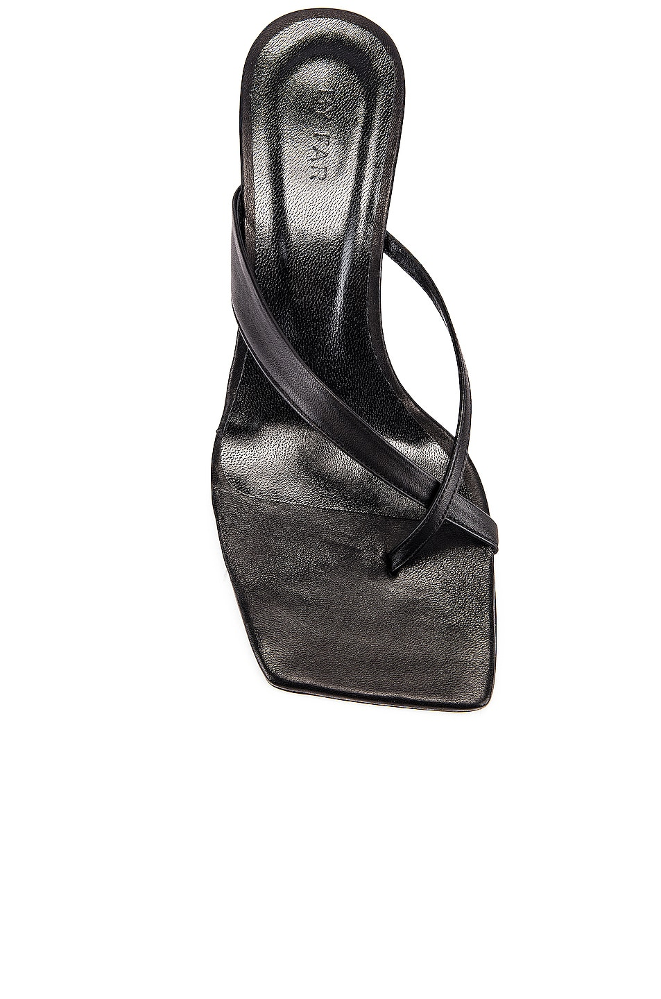 Image 4 of BY FAR Theresa Leather Wedge in Black