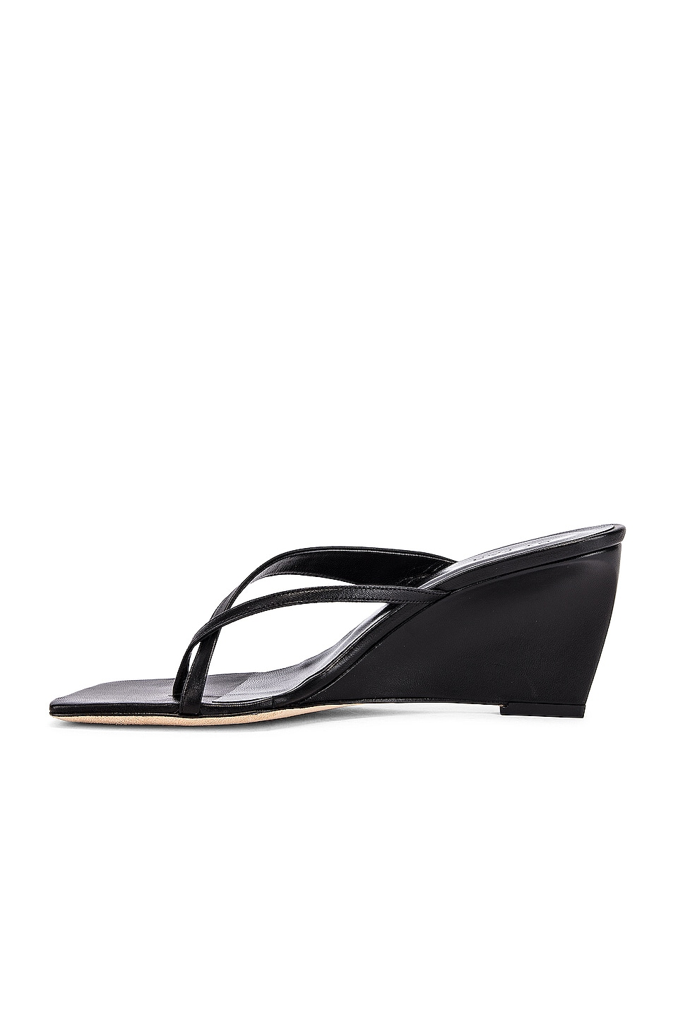 Image 5 of BY FAR Theresa Leather Wedge in Black
