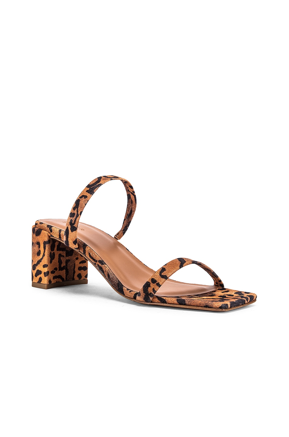 Image 2 of BY FAR Tanya Suede Leather Sandal in Leopard Print