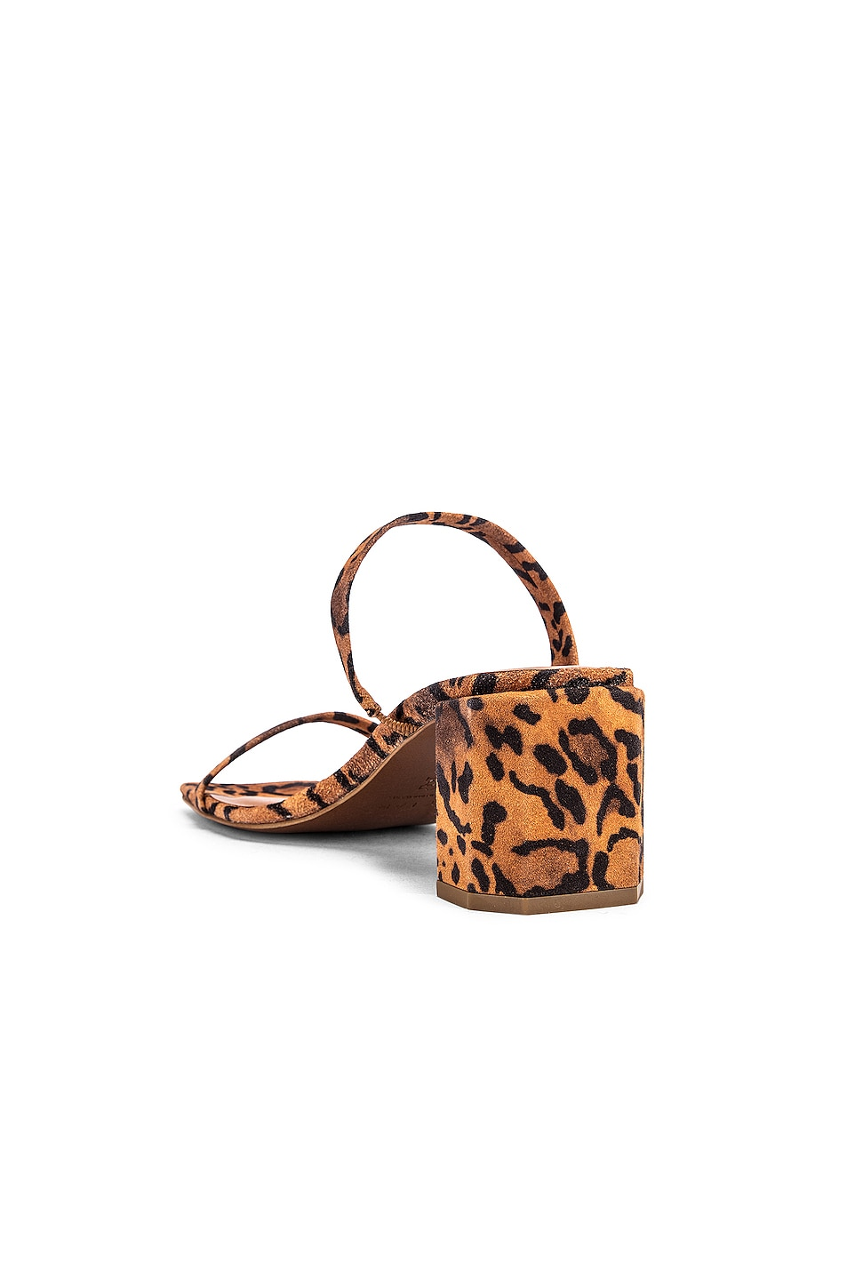 Image 3 of BY FAR Tanya Suede Leather Sandal in Leopard Print