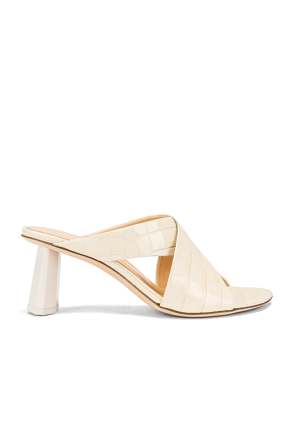 Image 1 of By Far Jaz Mule in Cream Croc