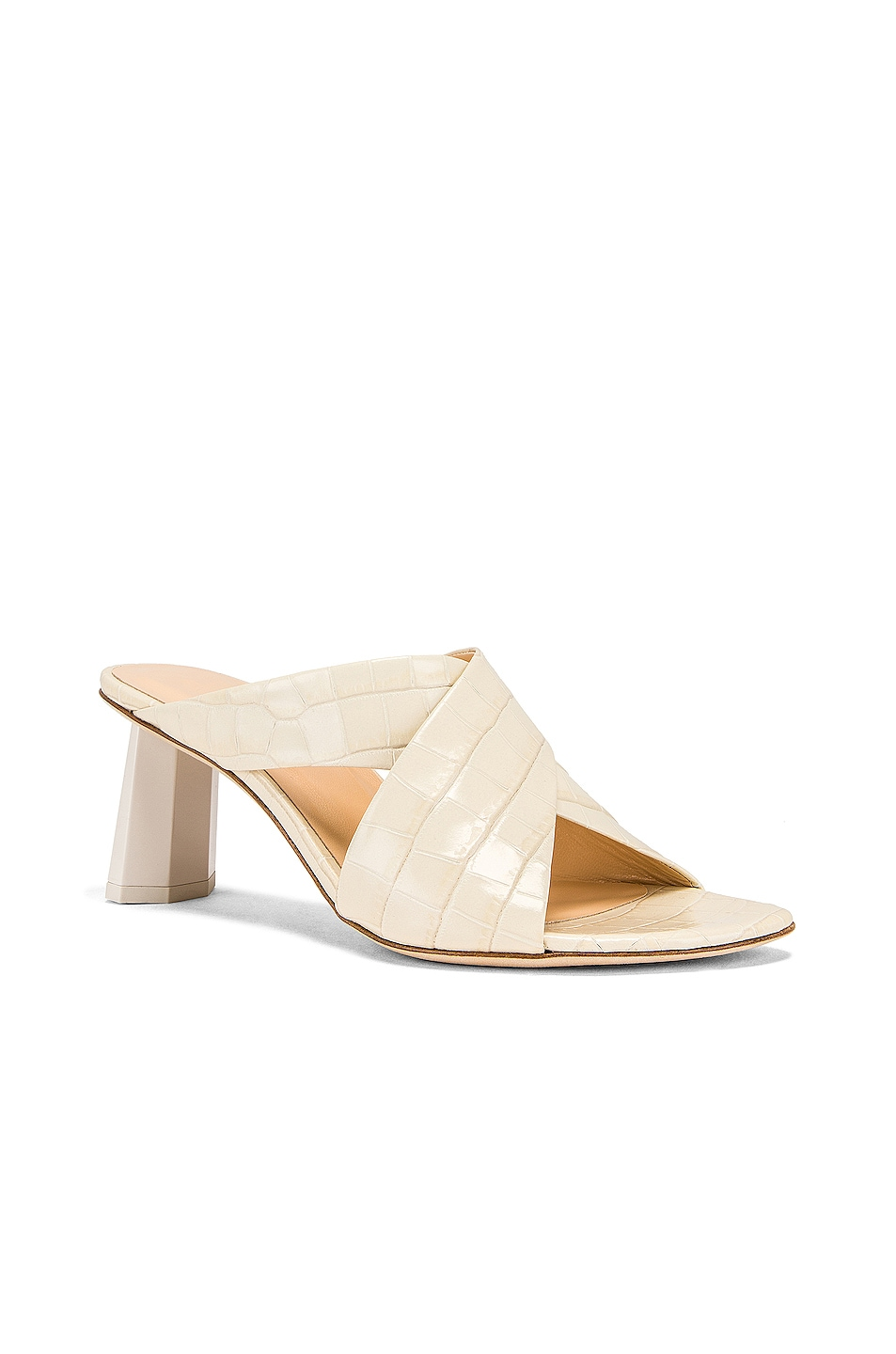 Image 2 of By Far Jaz Mule in Cream Croc