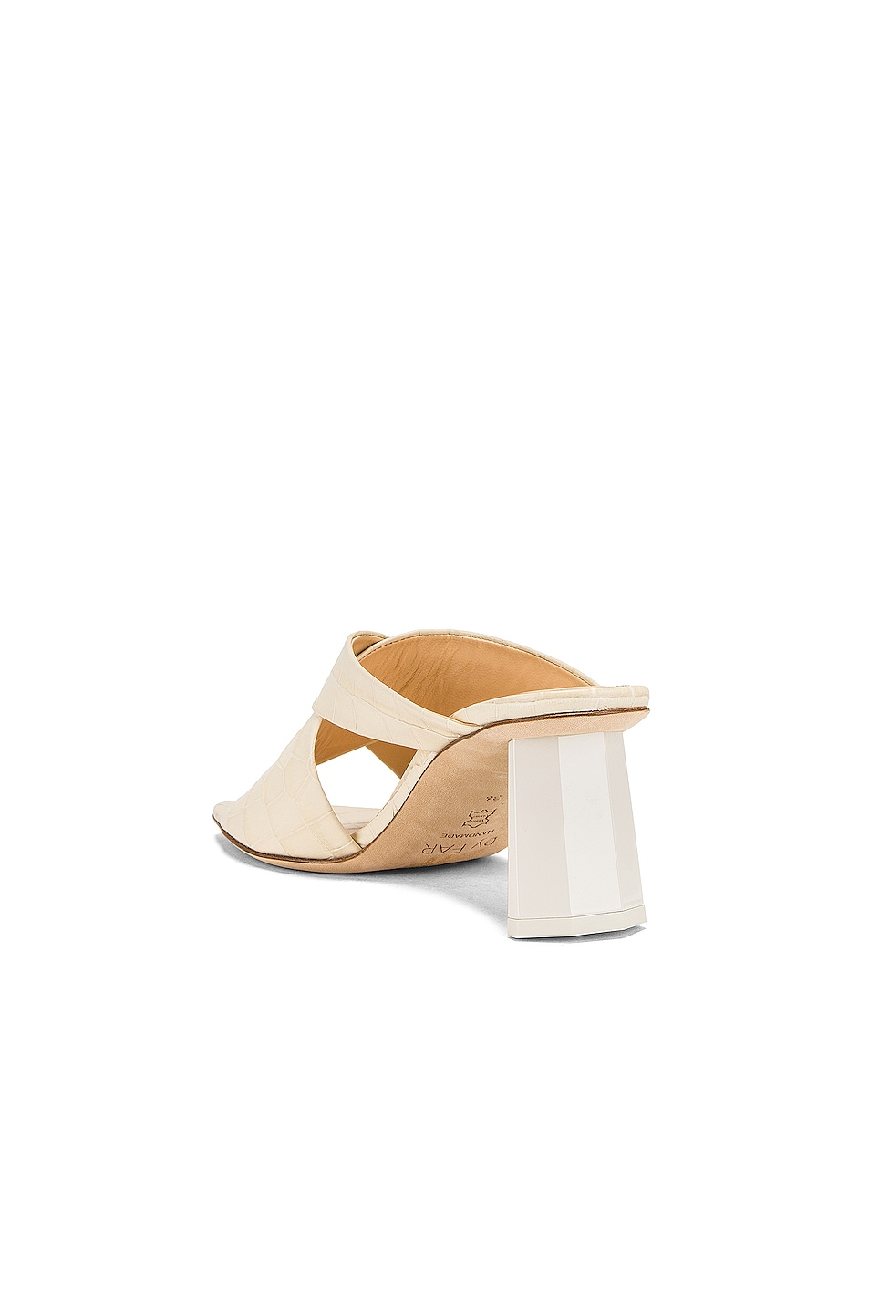 Image 3 of By Far Jaz Mule in Cream Croc