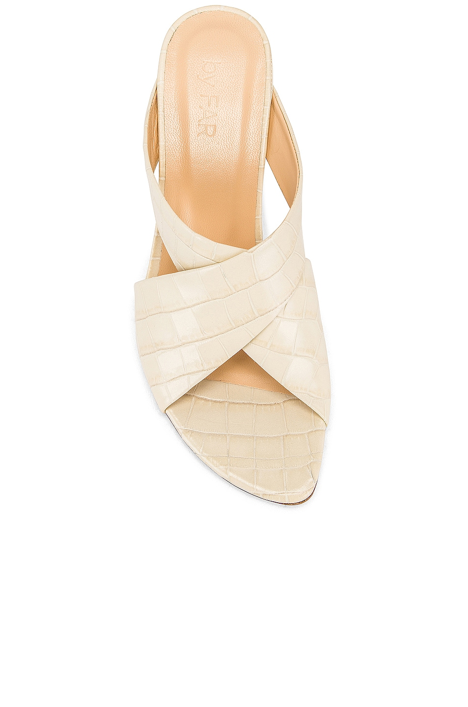Image 4 of By Far Jaz Mule in Cream Croc