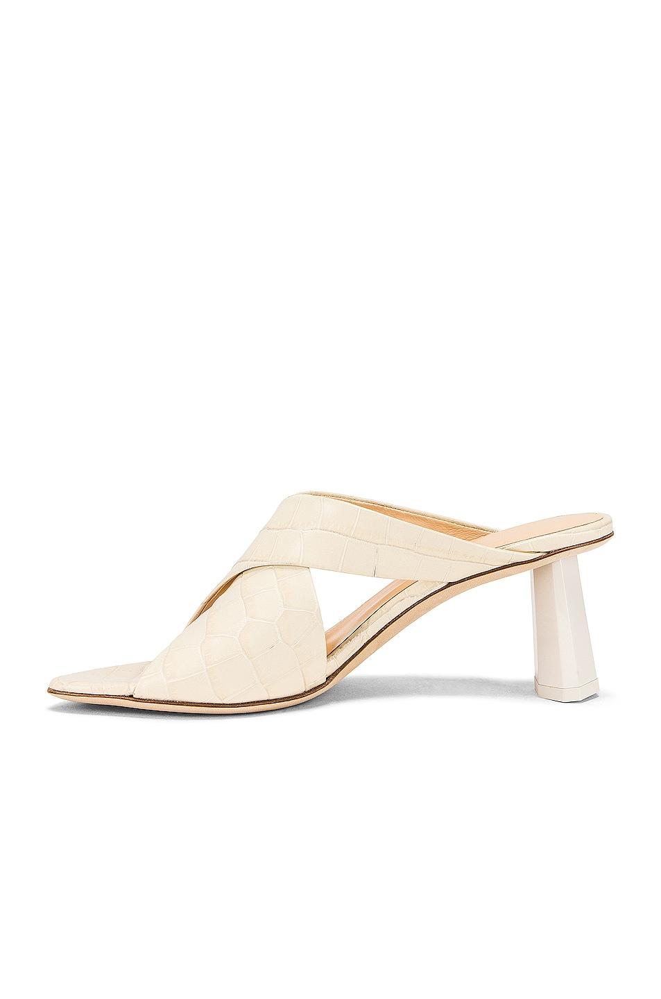 Image 5 of By Far Jaz Mule in Cream Croc