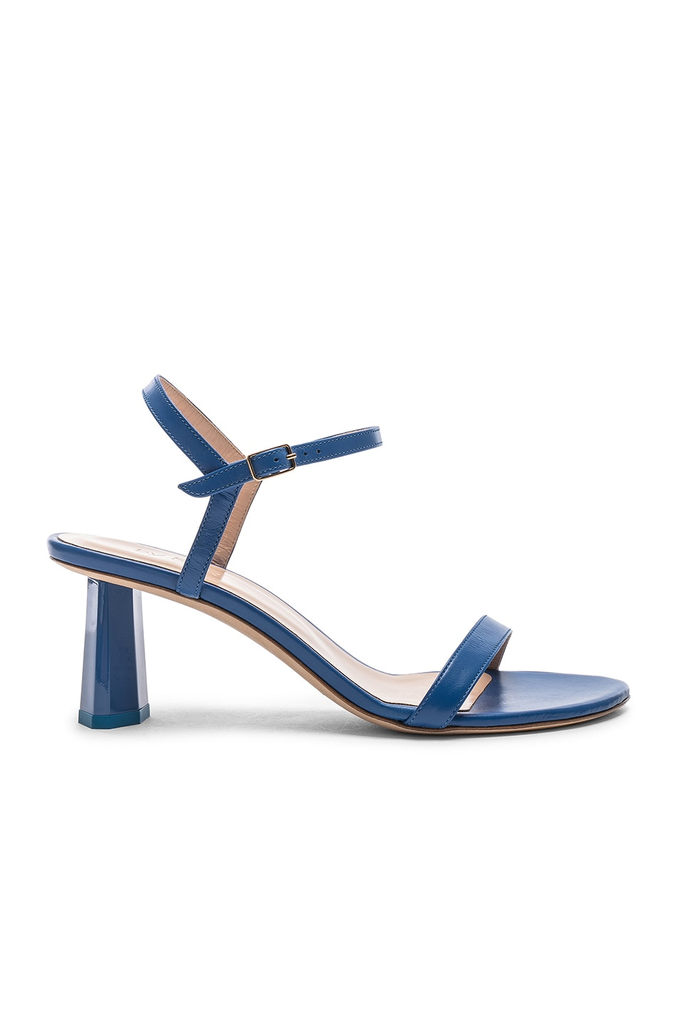 Image 1 of BY FAR Magnolia Sandal in Marine Blue Leather