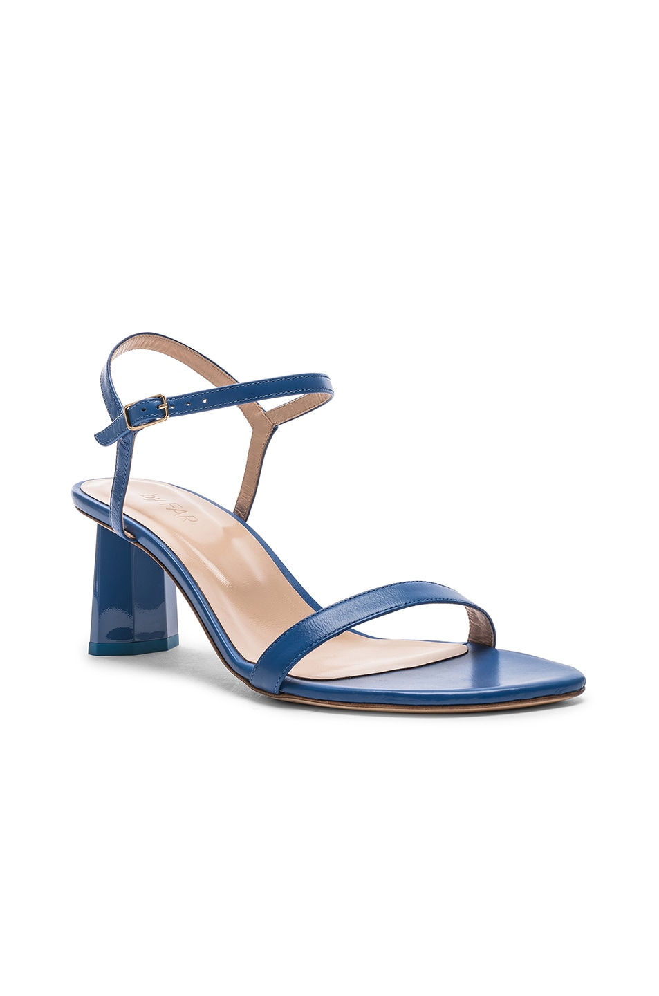 Image 2 of By Far Magnolia Sandal in Marine Blue Leather