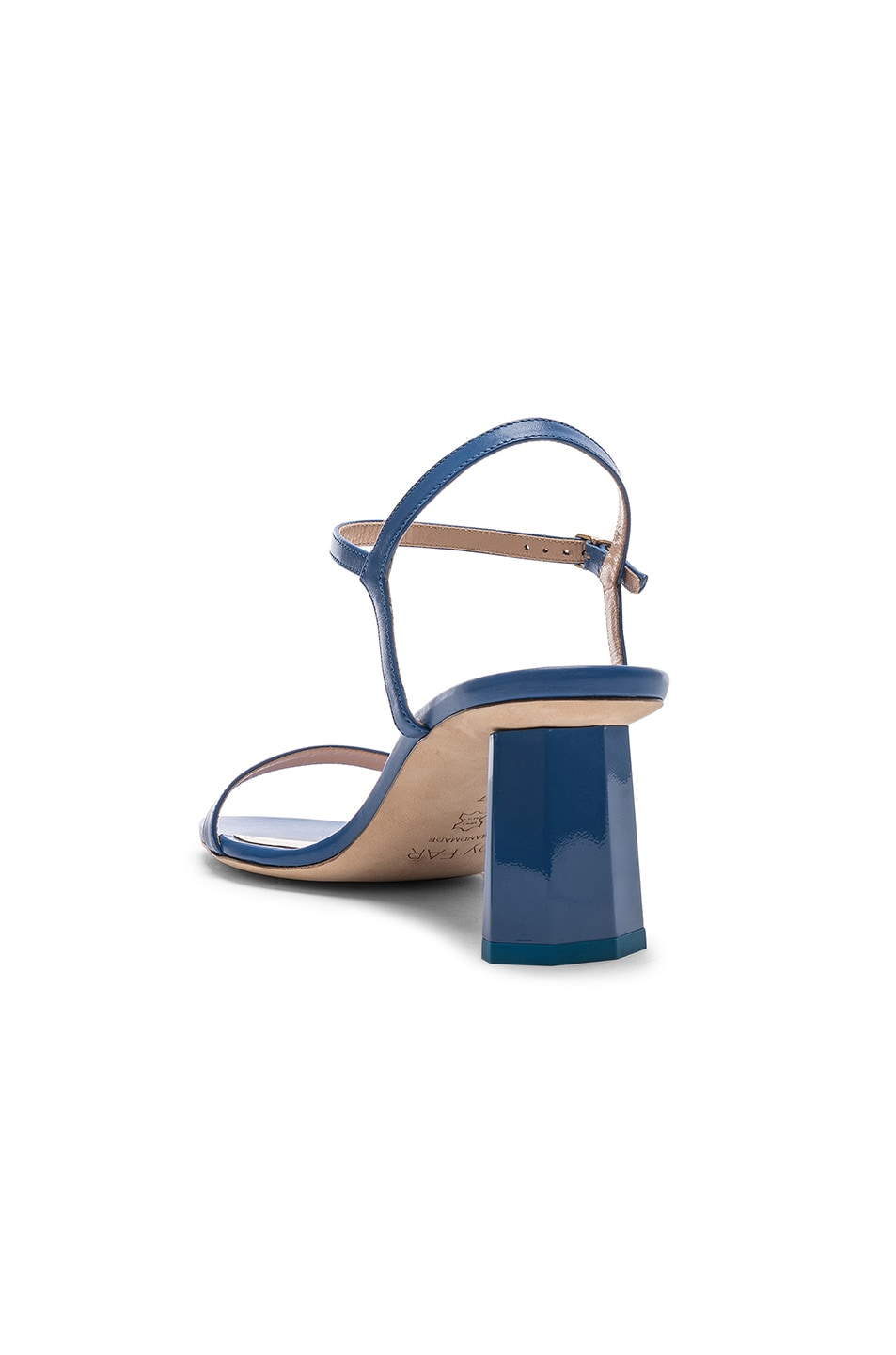 Image 3 of By Far Magnolia Sandal in Marine Blue Leather