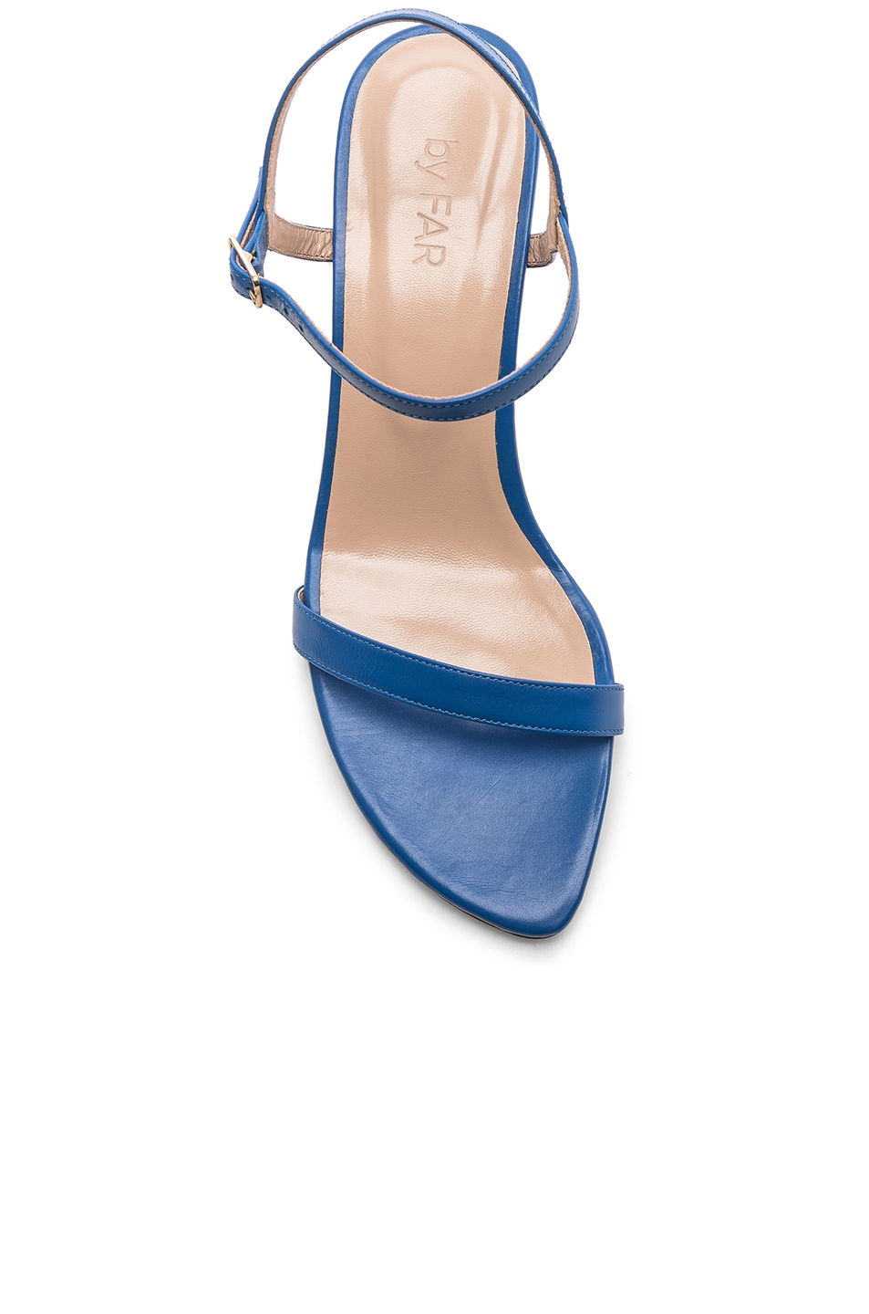 Image 4 of By Far Magnolia Sandal in Marine Blue Leather