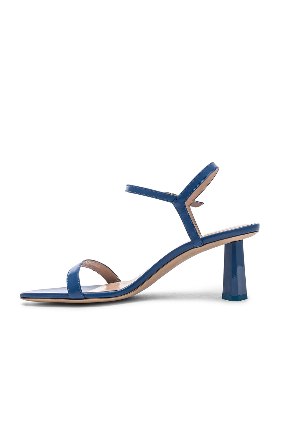Image 5 of By Far Magnolia Sandal in Marine Blue Leather
