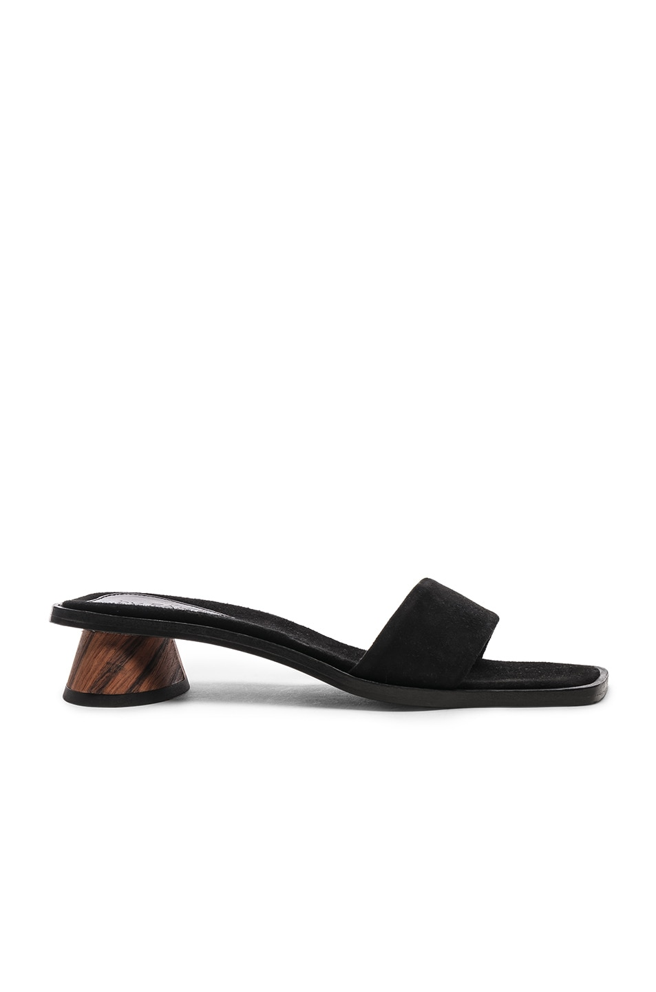 Image 1 of By Far Sonia Sandal in Black Suede