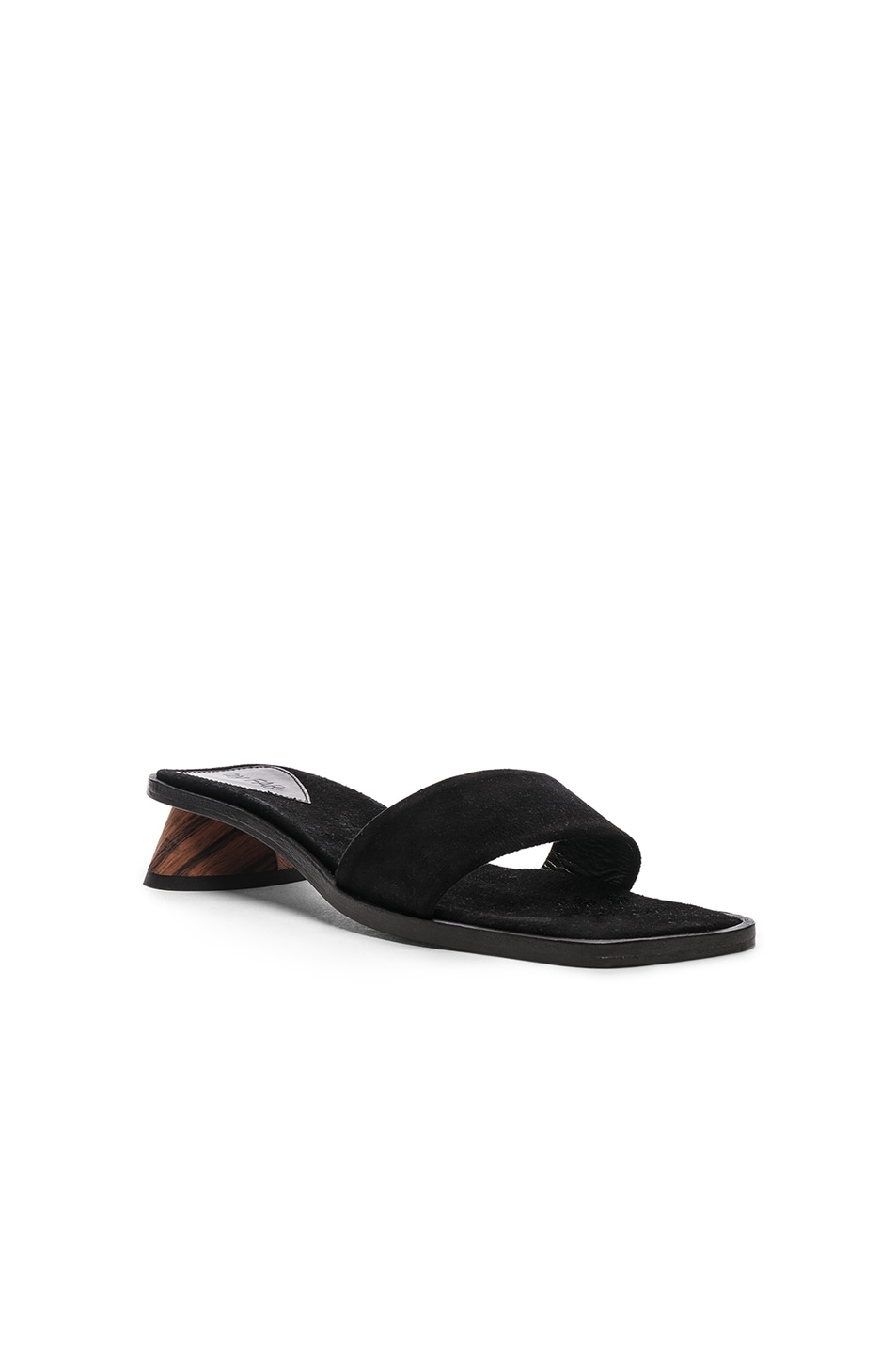 Image 2 of By Far Sonia Sandal in Black Suede