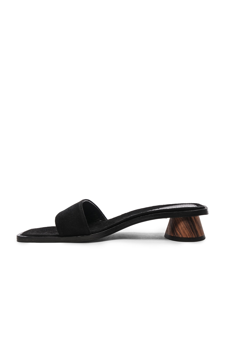 Image 5 of By Far Sonia Sandal in Black Suede