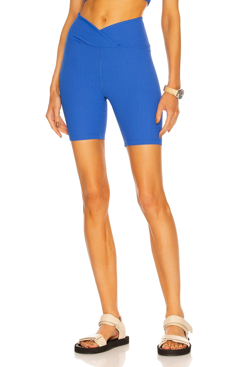 Image 1 of YEAR OF OURS V Waist Biker Short in New Blue