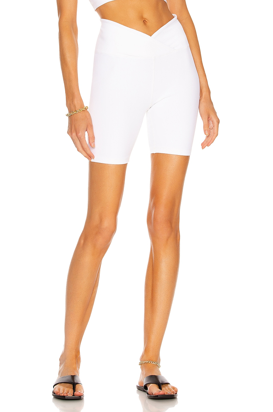 Image 1 of YEAR OF OURS V Waist Biker Short in White